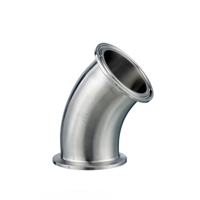 Sanitary Stainless Steel 45 Degree Pipe Elbow Bend