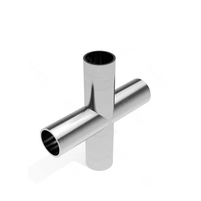 Sanitary Stainless Steel Pipe Fitting Welding Type Cross