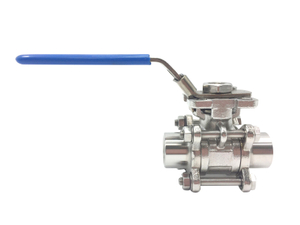 Stainless Steel Sanitary Hygienic Threaded 3-piece Ball Valves