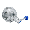 Sanitary Hygienic Male Threaded Butterfly Type Ball Valves
