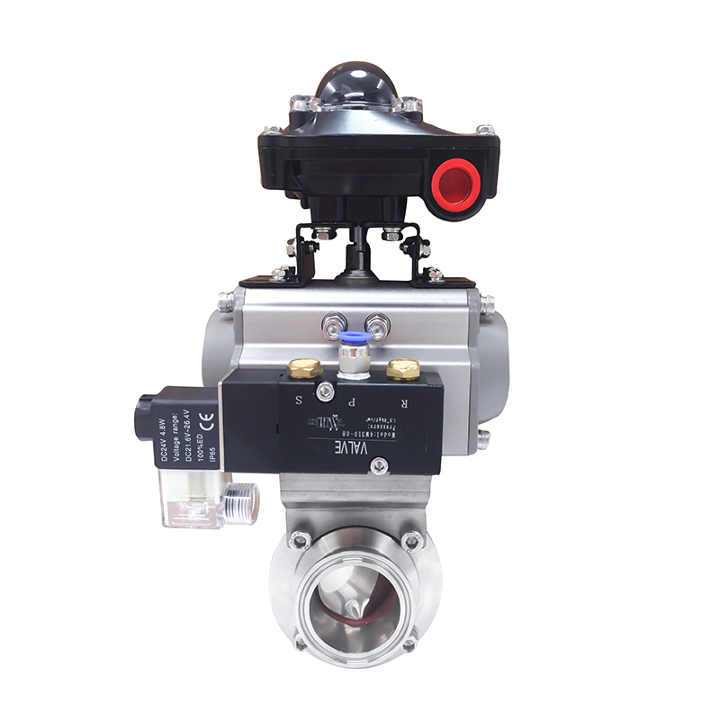 Stainless Steel Sanitary Hygienic Electric Weld Butterfly Valves