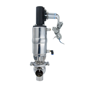 Sanitary Pneumatic Shut Off Single Seat Diverter Valves