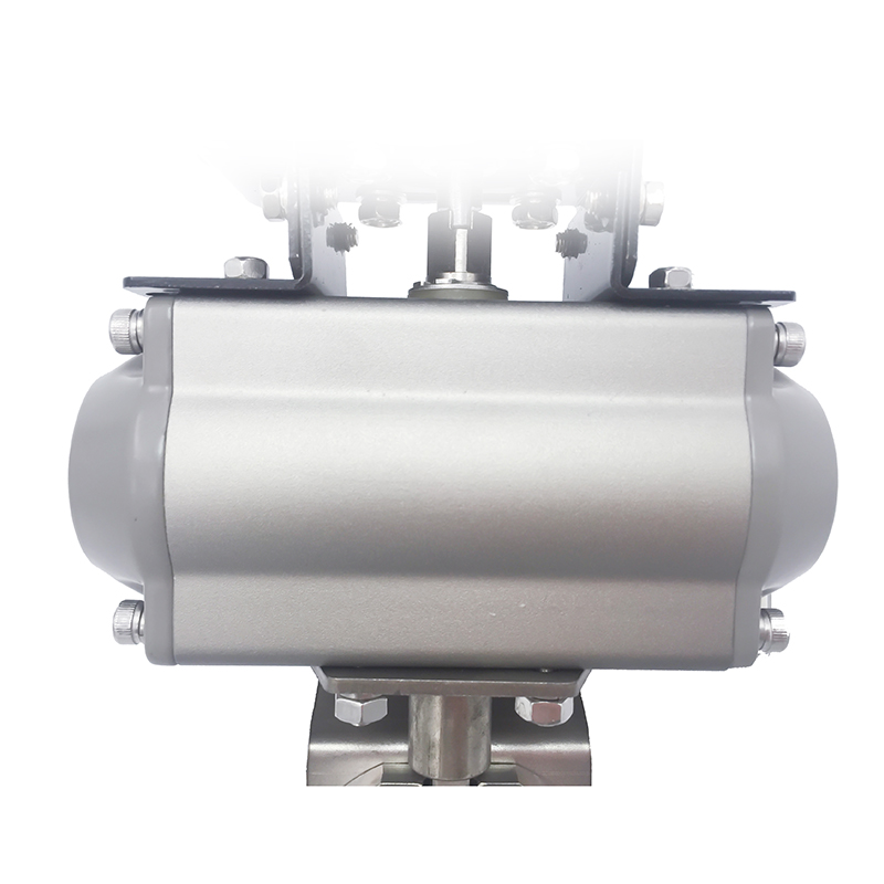 Stainless Steel Sanitary Actuated Clamp Butterfly Valves
