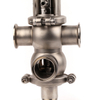 2 inch Sanitary Double Seat Mix-proof Valves with Controller