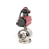 Stainless Steel Sanitary Hygienic Non-retention Pneumatic Ball Valves