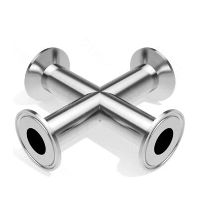 Sanitary Stainless Steel Pipe Ferrule Four Way Cross
