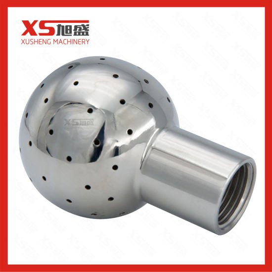 Dn50 Stainless Steel Ss304 Hygienic Weld Fixed Cleaning Ball