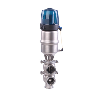 Factory Sanitary Pneumatic Diverter Valves with Control Head