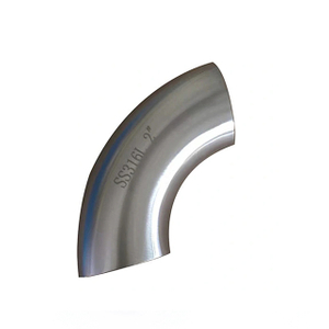 Sanitary Stainless Steel 90 Degree Pipe Elbow Bend