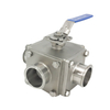 Sanitary Hygienic Stainless Steel L-Port Non-detention Ball Valves