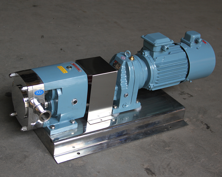 Sanitary Stainless Steel Frequency Type Lobe Rotor Pump