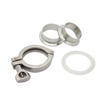 Sanitary Stainless Steel 304 Silicone Clamp Ferrule Assembly