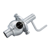 Stainless Steel L Sanitary Manual Shut-off Diverter Valves