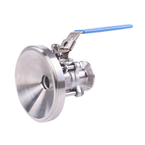 Sanitary Manual Tank Bottom Three-piece Non-retention Ball Valves