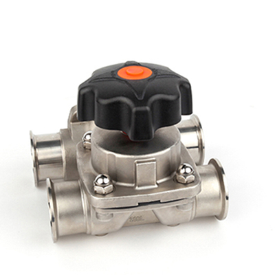 Sanitary Stainless Steel Clamp Type Manual Diaphragm Valve