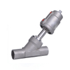 Sanitary Stainless Steel Pneumatic Thread Angle Seat Valve