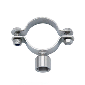 TH7M Sanitary Stainless Steel Thread Round Pipe Holder