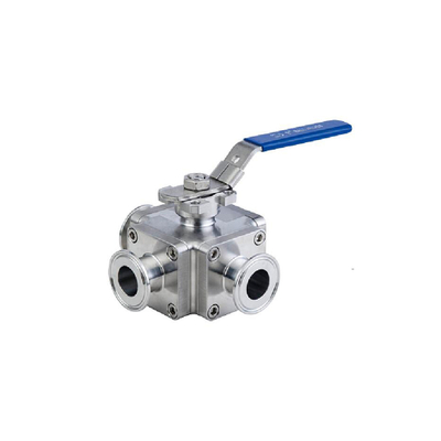 Dn40 Stainless Steel Handweel Three-Way Non-Retention Ball Valve