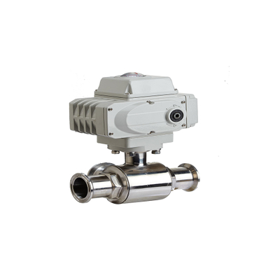 Sanitary Straight Clamp Ball Valve with Motor-Driven