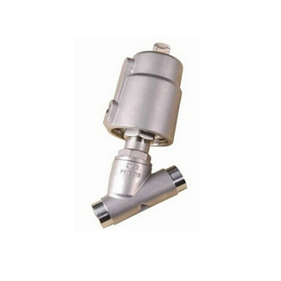 Sanitary Stainless Steel Pneumatical Welding Angle Seat Valve with Stainless Steel Actuator