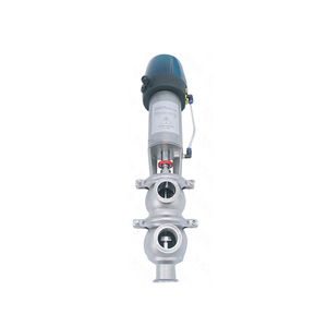 3A Sanitary LL Type Divert Seat Valve with Contarl Head