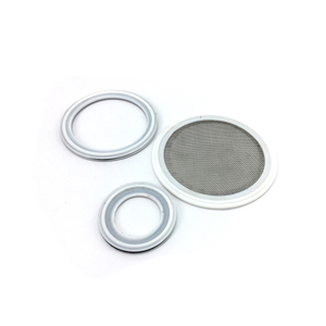 Sanitary Tri Clamps White PTFE Seal with 100 Mesh Screen