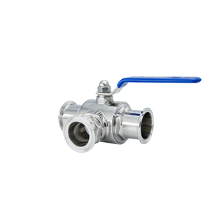 Stanitary Stainless Steel Quick Installation Three Way Clamped Ball Valve
