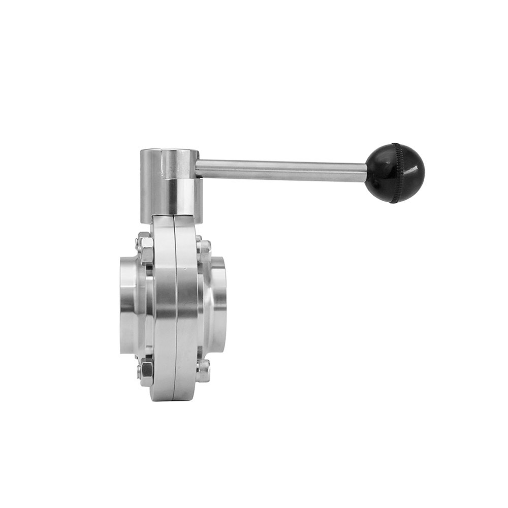 Sanitary Weld Butterfly Valve with Pull Handle