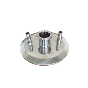 Stainless Steel Sanitary Tri Clamp End Cap with Fittings