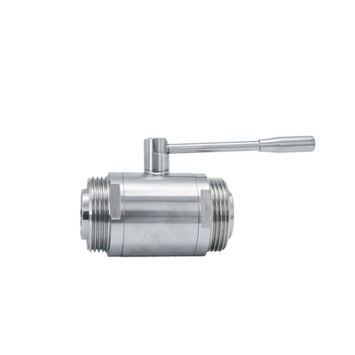 SS316L Sanitary Straight Male Thread Straight Ball Valve