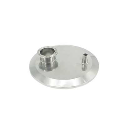 Sanitary Tri Clamp Solid End Cap with NPT Thread Pipe