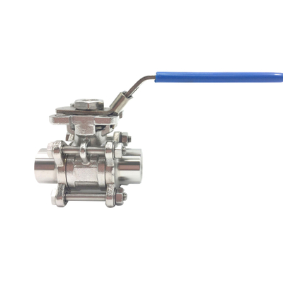 SS316L Sanitary FemaleThread 3Pieces Ball Valve