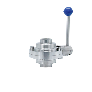 SS304 SS316L Stainless Steel Sanitary Welded Ball Valve with Butterfly Type
