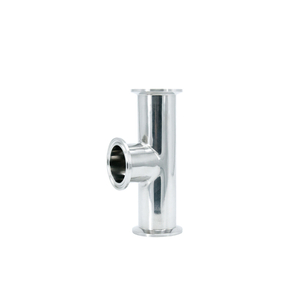 Sanitary Stainless Steel Clamp Straight End Short Equal Tee