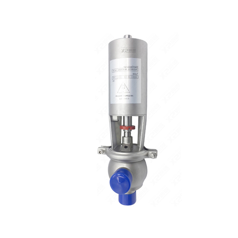 3A Sanitary L Type Pneumatic stop valve