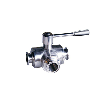 Stanitary Stainless Steel Heavy-duty three-way quick-fix ball valveBall Valve